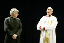 'RACING DEMON' (Hare)~l-r: Jack Shepherd (The Rev. Lionel Espy), Hugh Ross (The Rt. Rev. Charlie Allen, Bishop of Southwark)~Birmingham Repertory Theatre              11/03/2003
