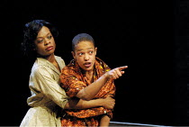 'A RAISIN IN THE SUN' (Hansberry) l-r: Cecilia Noble (Ruth Younger), Kananu Kirimi (Beneatha Younger) Young Vic Theatre, London SE1   04/06/2001