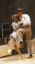 'A RAISIN IN THE SUN' (Lorraine Hansberry - director: David Lan),Noma Dumezweni (Ruth Younger), Lennie James (Walter Lee Younger),Young Vic Theatre Company / Lyric Hammersmith, London W6...