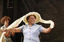 'A RAISIN IN THE SUN' (Lorraine Hansberry - director: David Lan),l-r: Noma Dumezweni (Ruth Younger), Novella Nelson (Lena Younger/Mama)),Young Vic Theatre Company / Lyric Hammersmith, London W6...