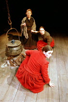 'RIDERS TO THE SEA' (J.M. Synge - director: John Crowley)~front to rear: Mairead McKinley (Cathleen), Aislinn Mangan (Nora), Stella McCusker (Maurya)~Royal Shakespeare Company / The Other Place   Stra...