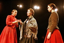 'RIDERS TO THE SEA' (J.M. Synge - director: John Crowley)~l-r: Mairead McKinley (Cathleen), Stella McCusker (Maurya), Aislinn Mangan (Nora)~Royal Shakespeare Company / The Other Place   Stratford-upon...