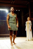 'THE ROMAN ACTOR' (Massinger)~Joe Dixon (Paris), Anna Madeley (Domitia)~RSC/Swan Theatre, Stratford-upon-Avon                30/05/2002
