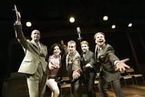 'ROUND THE HORNE.... REVISITED' (Took/Feldman/Cooke/Mortimer - director: Michael Kingsbury) l-r: Jonathan Rigby (Kenneth Horne), Kate Brown (Betty Marsden), Nigel Harrison (Hugh Paddick), Charles Arm...