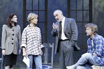 'THE SECRET RAPTURE' (David Hare - director: Guy Retallack)~l-r: Belinda Lang (Marion French), Jenny Seagrove (Isobel Glass), Peter Egan (Tom French), Simon Shepherd (Irwin Posner)~Lyric Theatre, Lond...