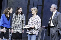 'THE SECRET RAPTURE' (David Hare - director: Guy Retallack)~l-r: Liza Walker (Katherine Glass), Belinda Lang (Marion French), Jenny Seagrove (Isobel Glass), Peter Egan (Tom French)~Lyric Theatre, Lond...