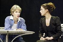 'THE SECRET RAPTURE' (David Hare - director: Guy Retallack)~l-r: Jenny Seagrove (Isobel Glass), Liza Walker (Katherine Glass)~Lyric Theatre, London W1                       26/11/2003