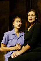 'SORROWS & REJOICINGS' (Fugard)~l-r: Amrain Ismail-Essop (Rebecca), Denise Newman (Marta Barends)~Tricycle Theatre, London NW6                25/03/2002
