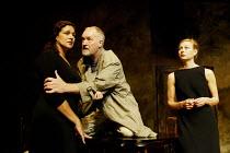 'SORROWS & REJOICINGS' (Fugard)~l-r: Denise Newman (Marta Barends), Marius Weyers (Dawid Olivier), Jennifer Steyn (Allison Olivier)~Tricycle Theatre, London NW6                25/03/2002