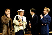 'STAR QUALITY' (Coward)~l-r: Russell Boulter (Ray Malcolm), Penelope Keith (Lorraine Barrie - with Jasper as 'Bothwell'), Nick Fletcher (Bryan Snow), Nick Waring (Tony Orford)~Apollo Theatre, London W...