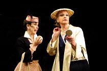 'STAR QUALITY' (Coward)~l-r: Una Stubbs (Marion Blake), Penelope Keith (Lorraine Barrie)~Apollo Theatre, London W1                      29/10/2001