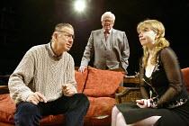 'SUGAR DADDIES' (author/director: Alan Ayckbourn)~l-r: Terence Booth (Ashley), Rex Garner (Val), Alison Pargeter (Sasha)~Stephen Joseph Theatre, Scarborough                              22/07/2003