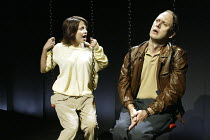 'THE SUGAR SYNDROME' (Lucy Prebble - director: Marianne Elliott)~Stephanie Leonidas (Dani), Andrew Woodall (Tim)~Jerwood Theatre Upstairs / Royal Court Theatre, London SW1        20/10/2003