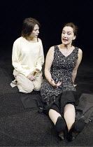 'THE SUGAR SYNDROME' (Lucy Prebble - director: Marianne Elliott)~l-r: Stephanie Leonidas (Dani), Kate Duchene (Jan)~Jerwood Theatre Upstairs / Royal Court Theatre, London SW1        20/10/2003
