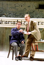 'TALES FROM HOLLYWOOD' (Hampton)~l-r: Phil Davis (Bertolt Brecht), Ben Daniels (Odon von Horvath)~Donmar Warehouse, London WC2  01/05/2001