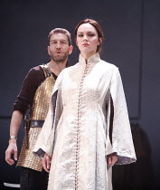 TAMBURLAINE   by Christopher Marlowe   director: David Farr,Greg Hicks (Tamburlaine), Rachael Stirling (Zenocrate),Bristol Old Vic / Young Vic / BITE:05 ^Young Genius^ co-production / Barbican Theatre...