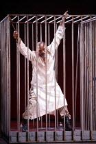 TAMBURLAINE   by Christopher Marlowe   director: David Farr,prisoner of Tamburlaine: Jeffrey Kissoon (Bajezeth),Bristol Old Vic / Young Vic / BITE:05 'Young Genius' co-production / Barbican Theatre, L...