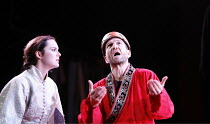 TAMBURLAINE   by Christopher Marlowe   director: David Farr,Rachael Stirling (Zenocrate), Greg Hicks (Tamburlaine),Bristol Old Vic / Young Vic / BITE:05 ^Young Genius^ co-production / Barbican Theatre...