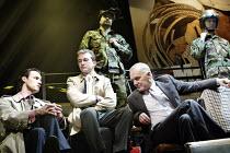 'TERRORISM' (Presnyakov Brothers) l-r: Paul Hilton, Ian Dunn, (rear) Gary Oliver, Alan Williams, Paul Ready Jerwood Theatre Upstairs / Royal Court, London SW1 13/03/2003