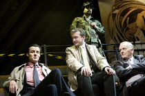 'TERRORISM' (Presnyakov Brothers) l-r: Paul Hilton, Ian Dunn, (rear) Gary Oliver, Alan Williams Jerwood Theatre Upstairs / Royal Court, London SW1 13/03/2003