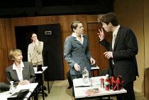 'TERRORISM' (Presnyakov Brothers) l-r: Sheila Reid, Sarah Cattle, Suzan Sylvester, Paul Ready Jerwood Theatre Upstairs / Royal Court, London SW1 13/03/2003