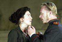 'THREE SISTERS' (Chekhov)   (director: Katie Mitchell)~Eve Best (Masha), Ben Daniels (Vershinin)~Lyttelton Theatre / National Theatre   London SE1         12/08/2003