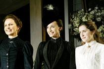 'THREE SISTERS' (Chekhov/Hampton   director: Michael Blakemore)~l-r: Kate Burton (Olga), Kristin Scott Thomas (Masha), Madeleine Worrall (Irina)~Playhouse Theatre, London WC2...