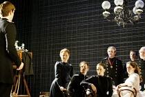 'THREE SISTERS' (Chekhov/Hampton   director: Michael Blakemore)~family photo - l-r: Kate Burton (Olga), Tobias Menzies (Tufenbach), Kristin Scott Thomas (Masha), Robert Bathurst (Vershinin), ~Madelein...
