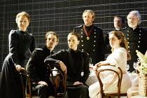 'THREE SISTERS' (Chekhov/Hampton   director: Michael Blakemore)~l-r: Kate Burton (Olga), Tobias Menzies (Tufenbach), Kristin Scott Thomas (Masha), Robert Bathurst (Vershinin), ~Madeleine Worrall (Irin...
