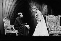 'TINY ALICE' (Albee)~David Warner (Julian), Irene Worth (Miss Alice)~RSC/Aldwych Theatre, London  01/70