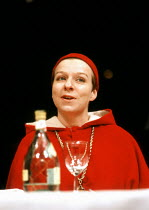 'TOP GIRLS' (Caryl Churchill)~Selina Cadell (Pope Joan)~Royal Court Theatre, London  SW1                            08/02/1983