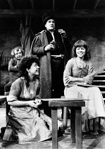 'TRANSLATIONS' (Brian Friel),l-r: (rear) Ron Flanagan (Doalty), Anna Keaveney (Bridget), Ian Bannen (Hugh), Maire Ni Ghrainne (Sarah) ,Hampstead Theatre, London NW3        12/05/1981, (c) Donald Coop...