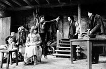 'TRANSLATIONS' (Brian Friel) l-r: Anna Keaveney (Bridget), Ron Flanagan (Doalty), Maire Ni Ghrainne (Sarah), Tony Doyle (Owen), Stephen Rea (Manus), Ian Bannen (Hugh) Hampstead Theatre, London NW3...