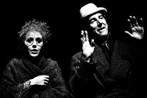 'TRAVESTIES' (Stoppard)~Beth Morris (Cecily Carruthers), John Wood (Henry Carr)~Royal Shakespeare Company (RSC), Aldwych Theatre, London WC2       06/1974