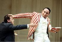 'TRAVESTIES' (Stoppard)~l-r: David Westhead (Tristan Tzara), Antony Sher (Henry Carr)~Royal Shakespeare Company (RSC), Barbican Theatre, London EC2                     09/09/1993