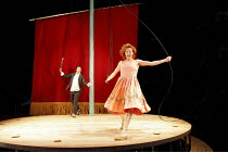 'TRISTAN & YSEULT' (written by Carl Grose & Anna Maria Murphy   directed & adapted by Emma Rice),Tristan Sturrock (Tristan), Eva Magyar (Yseult),Kneehigh Theatre / National Theatre co-production   Cot...