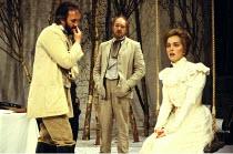 'UNCLE VANYA' (Chekhov)~l-r: Jonathan Pryce (Astrov), Michael Gambon (Vanya), Greta Scacchi (Yelena)~Vaudeville Theatre  24/05/88