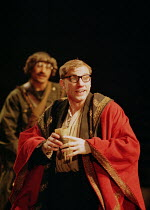 'THE CAUCASIAN CHALK CIRCLE' (Brecht) ~directed by Simon McBurney~photo: Simon McBurney as Azdak~Theatre de Complicite/Royal National Theatre, London 21/04/1997
