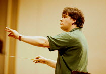 Antonio Pappano (conductor) rehearsing Royal National Scottish Orchestra~Usher Hall, Edinburgh 08/1997 ~(c) Donald Cooper/Photostage   photos@photostage.co.uk   ref/A-31