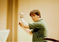 Antonio Pappano (conductor) rehearsing Royal National Scottish Orchestra~Usher Hall, Edinburgh 08/1997~(c) Donald Cooper/Photostage   photos@photostage.co.uk   ref/B-5