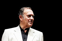 Harold Pinter as Nicolas  in 'ONE FOR THE ROAD' (Pinter)~Gate Theatre/Dublin production at the New Ambassadors Theatre, London WC2               07/2001