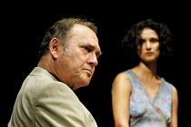 'ONE FOR THE ROAD' (Pinter)~Harold Pinter (Nicolas), Indira Varma (Gila)~Gate Theatre Dublin production/New Ambassador's Theatre, London WC2   04/07/2001