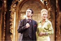 'THE UN INSPECTOR' (freely adapted from Gogol by David Farr - director: David Farr),Michael Sheen (Martin Gammon), Geraldine James (Anna Anreyevna),Olivier Theatre / National Theatre, London SE1...