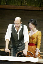 'UNCLE VANYA' (Friel/after Chekhov - directed by Sam Mendes)~Mark Strong (Astrov), Helen McCrory (Yelena)~Donmar Warehouse. London WC2          17/09/2002