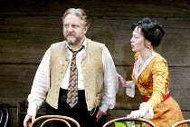'UNCLE VANYA' (Friel/after Chekhov - directed by Sam Mendes)~Simon Russell Beale (Vanya), Helen McCrory (Yelena)~Donmar Warehouse. London WC2          17/09/2002