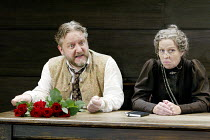 'UNCLE VANYA' (Friel/after Chekhov - directed by Sam Mendes)~Simon Russell Beale (Vanya), Selina Cadell (Marya)~Donmar Warehouse. London WC2          17/09/2002