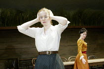 'UNCLE VANYA' (Friel/after Chekhov - directed by Sam Mendes)~l-r: Emily Watson (Sonya), Helen McCrory (Yelena)~Donmar Warehouse. London WC2          17/09/2002