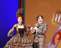 THE GONDOLIERS   music: Arthur Sullivan   libretto: W S Gilbert   conductor: Richard Balcombe   director: Martin Duncan <br>,l-r: Ann Murray (The Duchess of Plaza-Toro), Henry Goodman (The Duke of Pla...