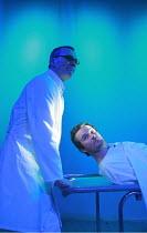 PEER GYNT   by Henrik Ibsen   director: Baltasar Kormakur <br>,l-r: Ingvar E. Sigurdsson (Button Moulder), Bjorn Hlynur Haraldsson (Peer Gynt) ,National Theatre of Iceland / BITE:07 / The Pit / Barbic...