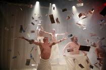 PEER GYNT   by Henrik Ibsen   director: Baltasar Kormakur ~,rear centre: Bjorn Hlynur Haraldsson (Peer Gynt),National Theatre of Iceland / BITE:07 / The Pit / Barbican Centre, London EC2   02/03/2007,